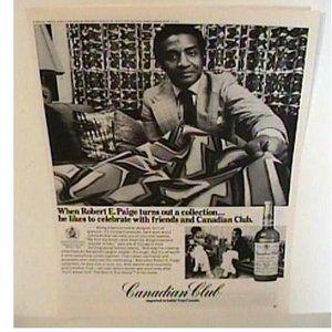 1974 Designer Robert E Paige Canadian Club Mag Ad